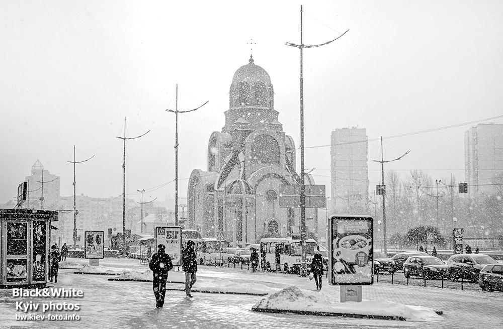 Снегопад на Южном вокзале