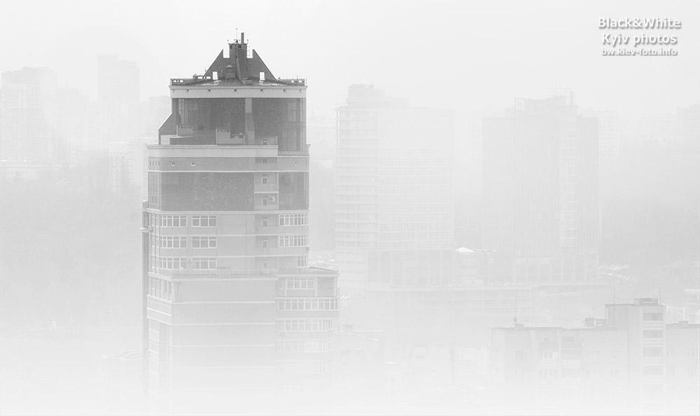 Туман в центре Киева. Fog in the center of Kiev