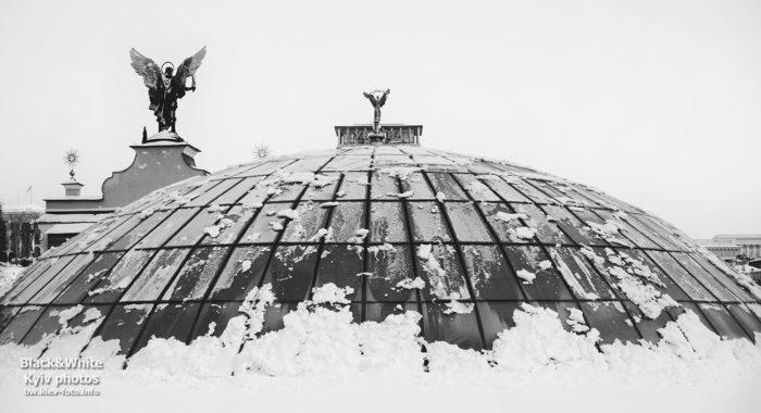 Заснеженный купол на Майдане