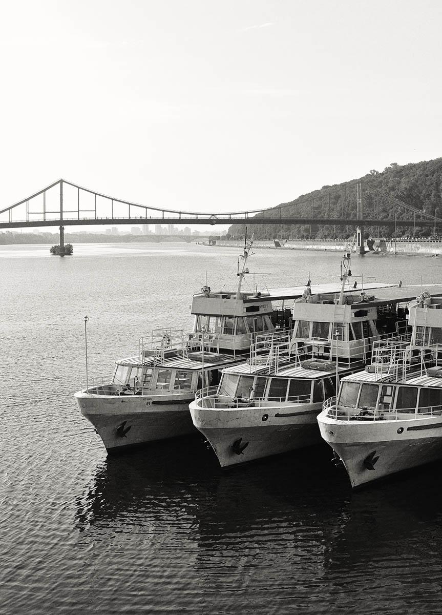 Три корабля на Подольской набережной
