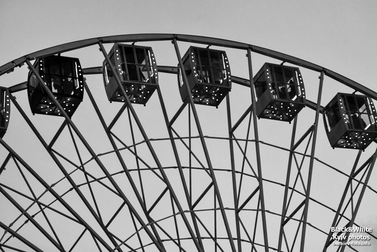 Колесо обозрения на Подоле в Киеве (Kyiv giant ferris wheel)